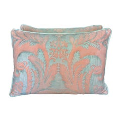 Pair of Vintage Textile Fortuny Pillows