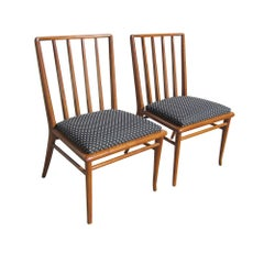 Pair of Vintage T.H. Robsjohn Gibbings Widdicomb Dining Chairs