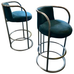 Pair of Vintage Thayer Coggin Bar Stools