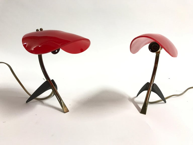 Pair of Vintage Tripod Stilnovo Lamps, 1950s For Sale 4