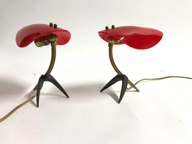 Pair of Vintage Tripod Stilnovo Lamps, 1950s For Sale 2