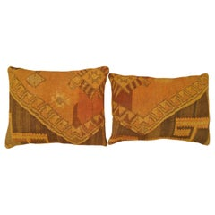 Pair of Vintage Turkish Kilim Rug Pillows