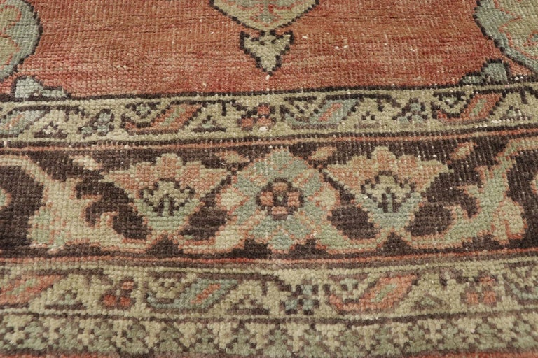 Pair of Vintage Turkish Oushak Gallery Rugs, Matching Wide Hallway Runners For Sale 7