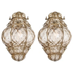 Pair of Vintage Venetian Lanterns