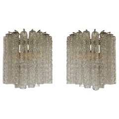 Pair of Vintage Venini Sconces by Toni Zuccheri
