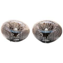 Pair of Vintage Venini Table Lamps, 1970s