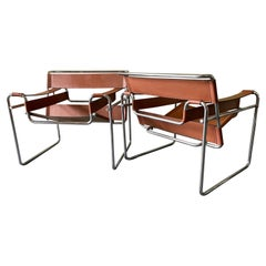 Pair of Vintage Wassily Chairs by Marcel Breuer for Stendig / Gavina