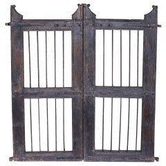 Pair of Vintage Wood and Iron Garden Gates