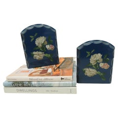 Pair of Vintage Wood Painted Bookends