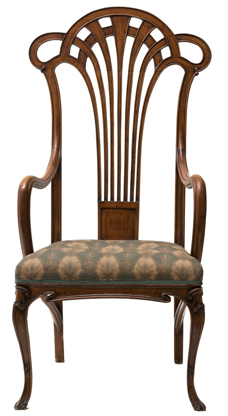 Pair of Vintage Wooden Liberty Armchairs, 19th-20th Century In Good Condition For Sale In Roma, IT