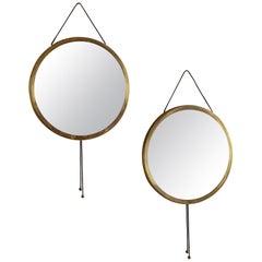 Pair of Vipera Mirrors by Corrado Corradi Dell 'Acqua