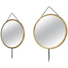 "Pair of ""Vipera"" Wall Mirrors by Corrado Corradi dell' Acqua, Italy, circa 1960s"