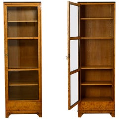 Pair of Vitrines Bruno Paul Austrian Jugendstil Birch and Pearwood, circa 1907