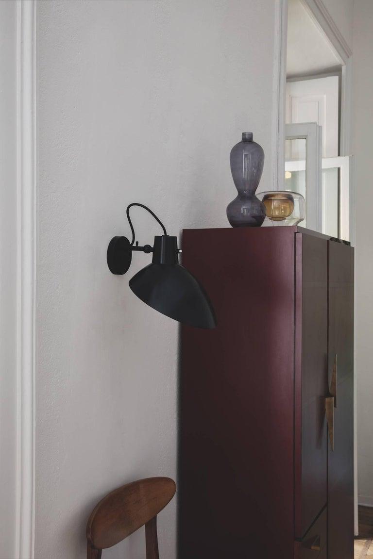 Mid-Century Modern Pair of Vittoriano Viganò 'VV Cinquanta' Sconces in Black For Sale
