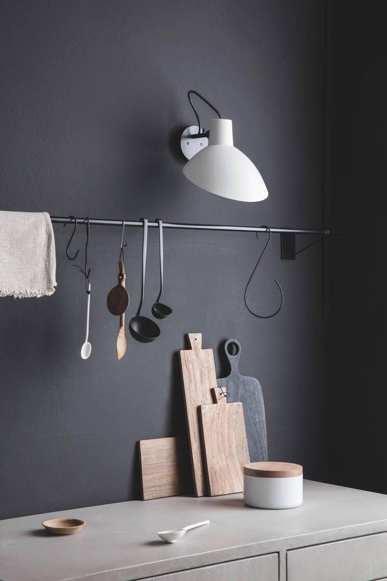 Aluminum Pair of Vittoriano Viganò 'VV Cinquanta' Sconces in Black For Sale
