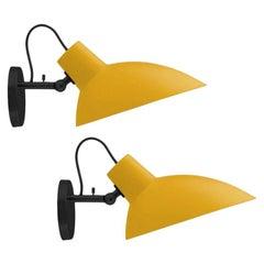 Pair of Vittoriano Viganò 'VV Cinquanta' Sconces in Yellow and Black