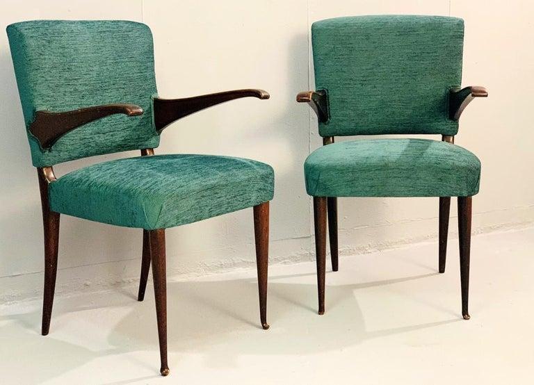 Pair of Vittorio Dassi armchairs, 1950s.