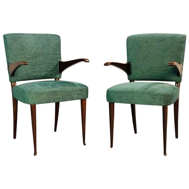 Pair of Vittorio Dassi Armchairs, 1950s For Sale
