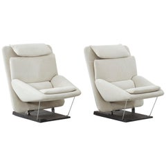 Pair of Vittorio Introini Lounge Chairs for Saporiti, Italy, circa 1970