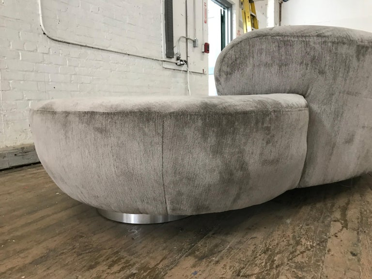 Pair of Vladimir Kagan Cloud Sofas by Directional For Sale 3