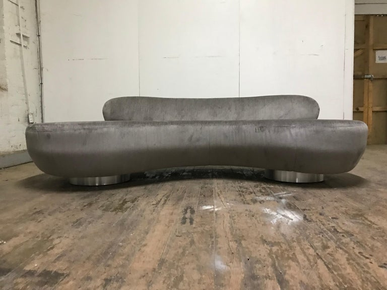 Pair of Vladimir Kagan Cloud Sofas by Directional For Sale 5