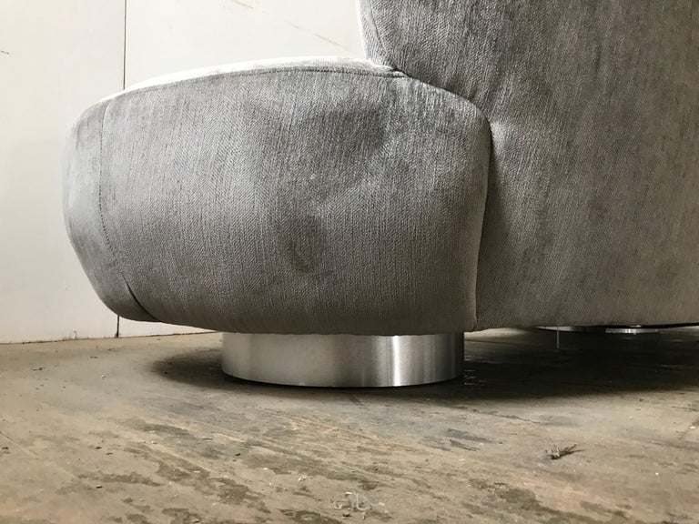 Pair of Vladimir Kagan Cloud Sofas by Directional For Sale 11