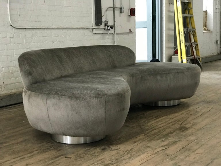 Pair of Vladimir Kagan Cloud Sofas by Directional For Sale 1