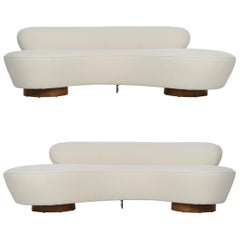 "Pair of Vladimir Kagan ""Cloud"" Sofas for Directional"