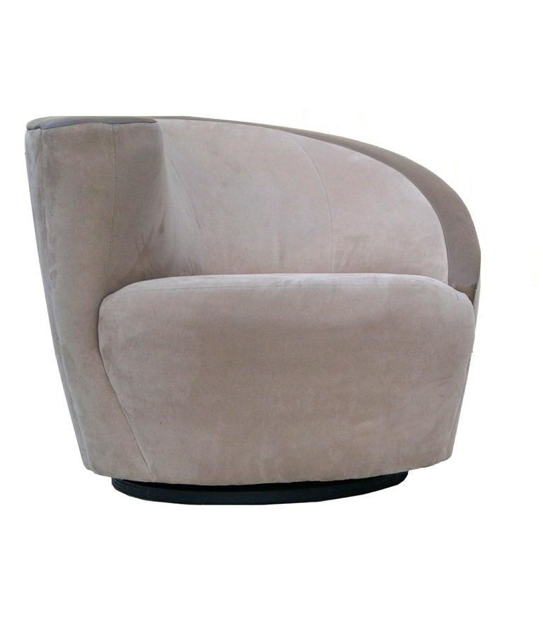Pair of Vladimir Kagan corkscrew swivel chairs for Directional.