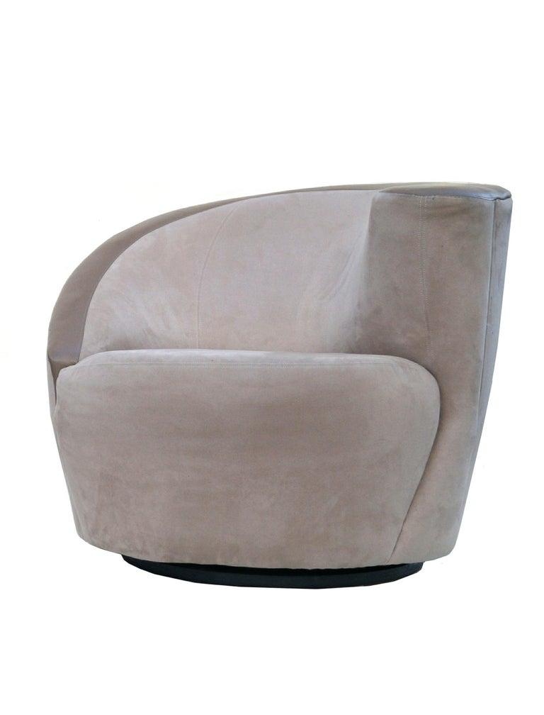 American Pair of Vladimir Kagan Corkscrew Nautilus Swivel Chairs for Directional For Sale