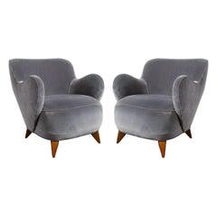 "Pair of Vladimir Kagan Mid Century ""Barrel"" Chairs Designed & Documented, 1947"