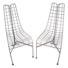 Pair of Vladimir Kagan Mid-Century Modern Capricorn Dining Chairs with Original