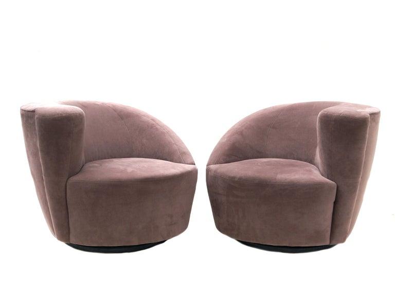 Other Pair of Vladimir Kagan Nautilus Swivel Lounge Chairs for Directional