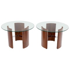 Pair of Vladimir Kagan Radius Round End Side Tables