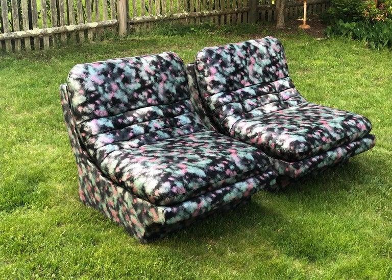 American Pair of Sleek Slipper Lounge Chairs Mid-Century Modern For Sale