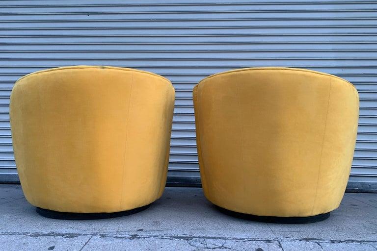 Modern Pair of Vladimir Kagan Swivel Chairs for Directional
