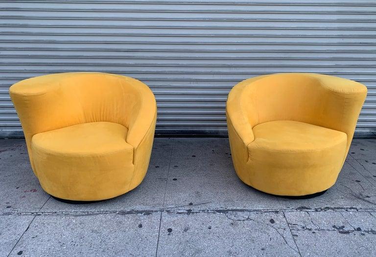 Pair of Vladimir Kagan Swivel Chairs for Directional 2