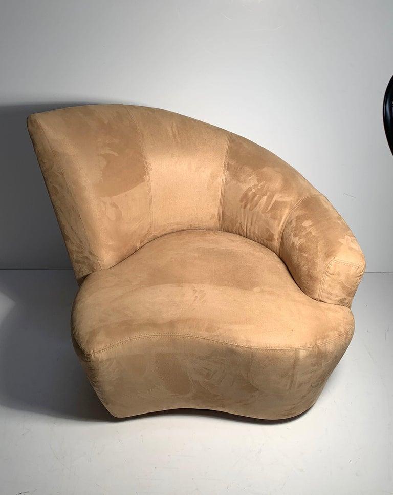 Pair of Vladimir Kagan Weiman Preview Bilbao Swivel Lounge Chairs 5