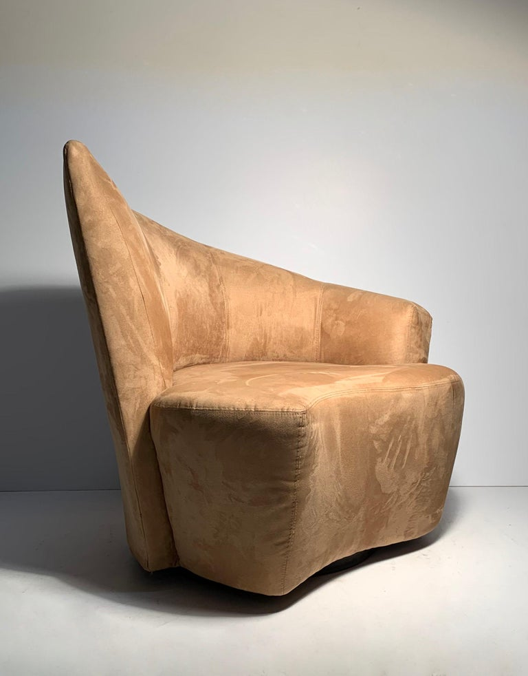 Pair of Vladimir Kagan Weiman Preview Bilbao Swivel Lounge Chairs 6