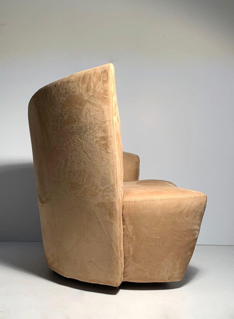 Pair of Vladimir Kagan Weiman Preview Bilbao Swivel Lounge Chairs 7