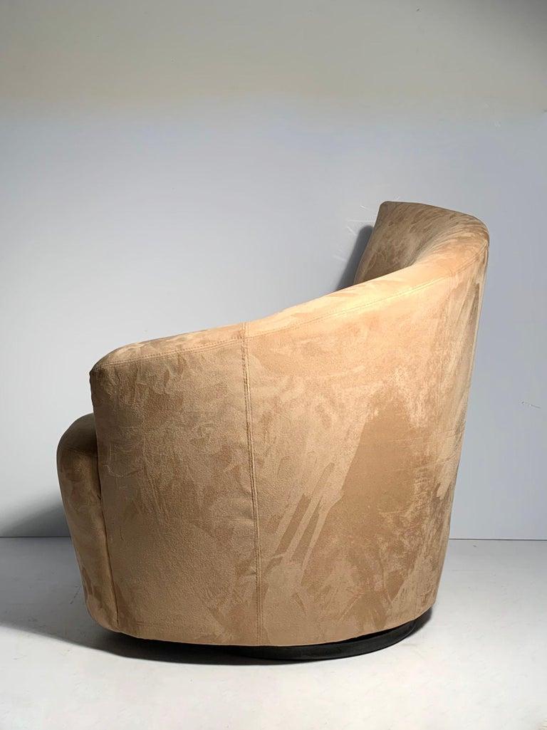 Pair of Vladimir Kagan Weiman Preview Bilbao Swivel Lounge Chairs 9