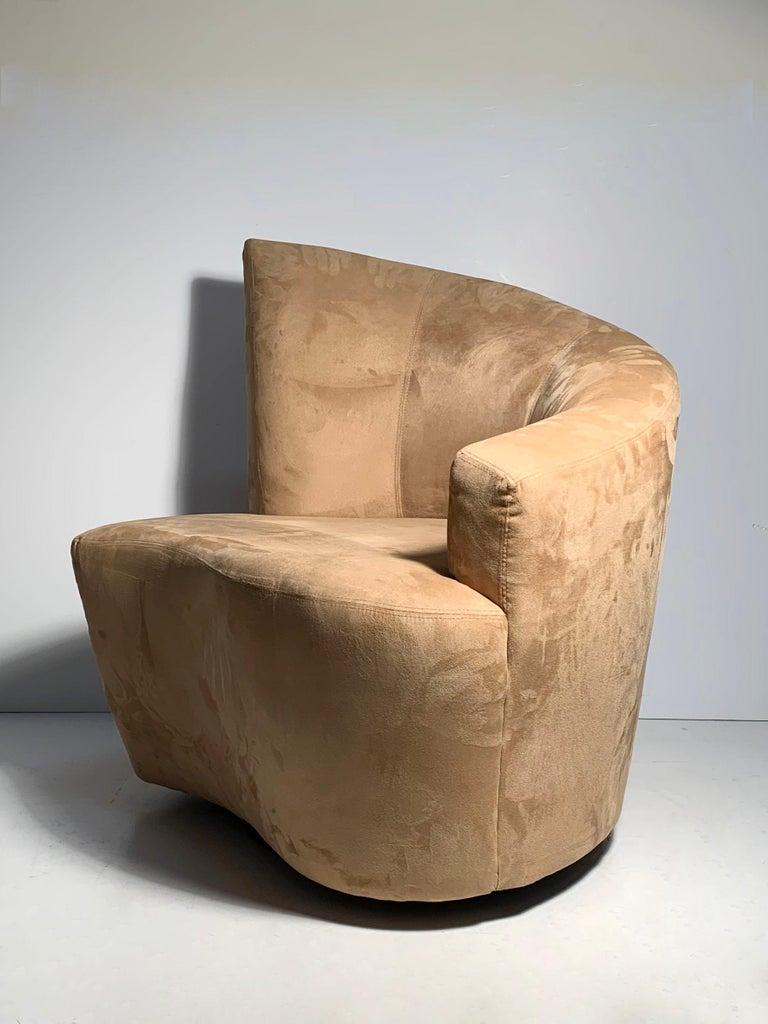 Pair of Vladimir Kagan Weiman Preview Bilbao Swivel Lounge Chairs 10