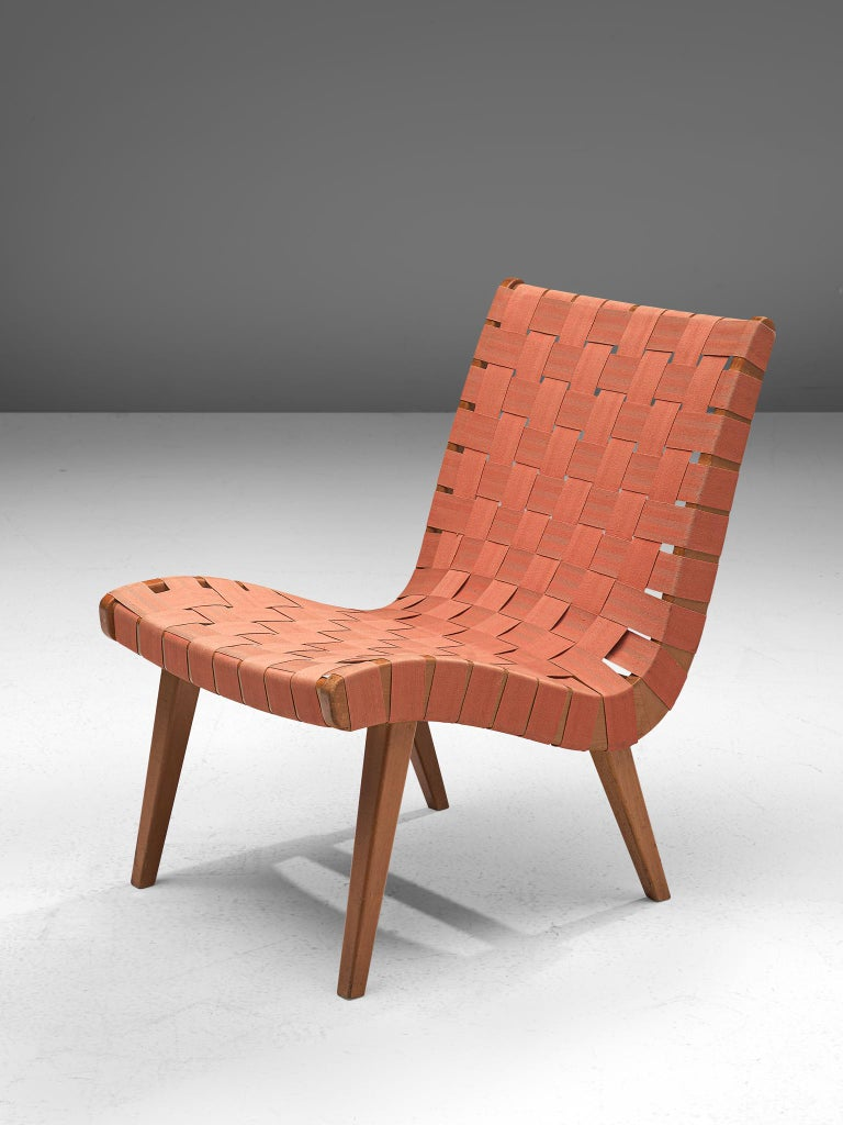 American Pair of 'Vostra' Chairs with Ottoman by Jens Risom For Sale