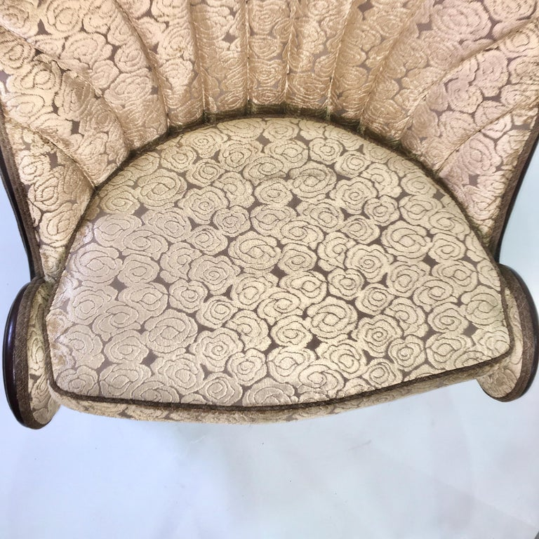 Pair of Waldorf Astoria NYC Lobby Chairs after Paul Iribe's Fauteuil Nautile For Sale 12