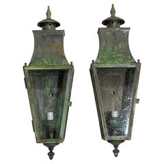 Pair of Wall Hanging Brass Lantern