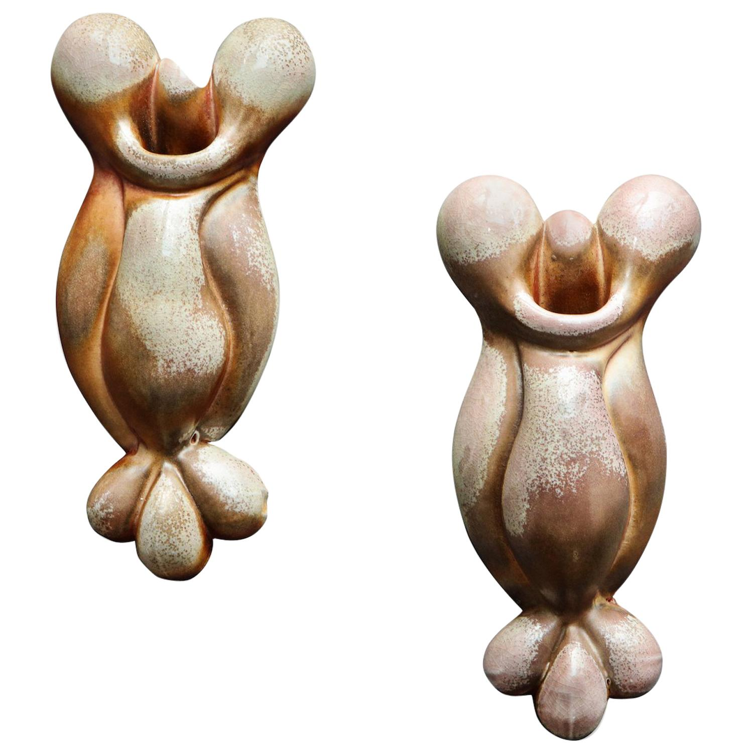 Pair of Wall Hanging Sculptures by Rosanne Sniderman