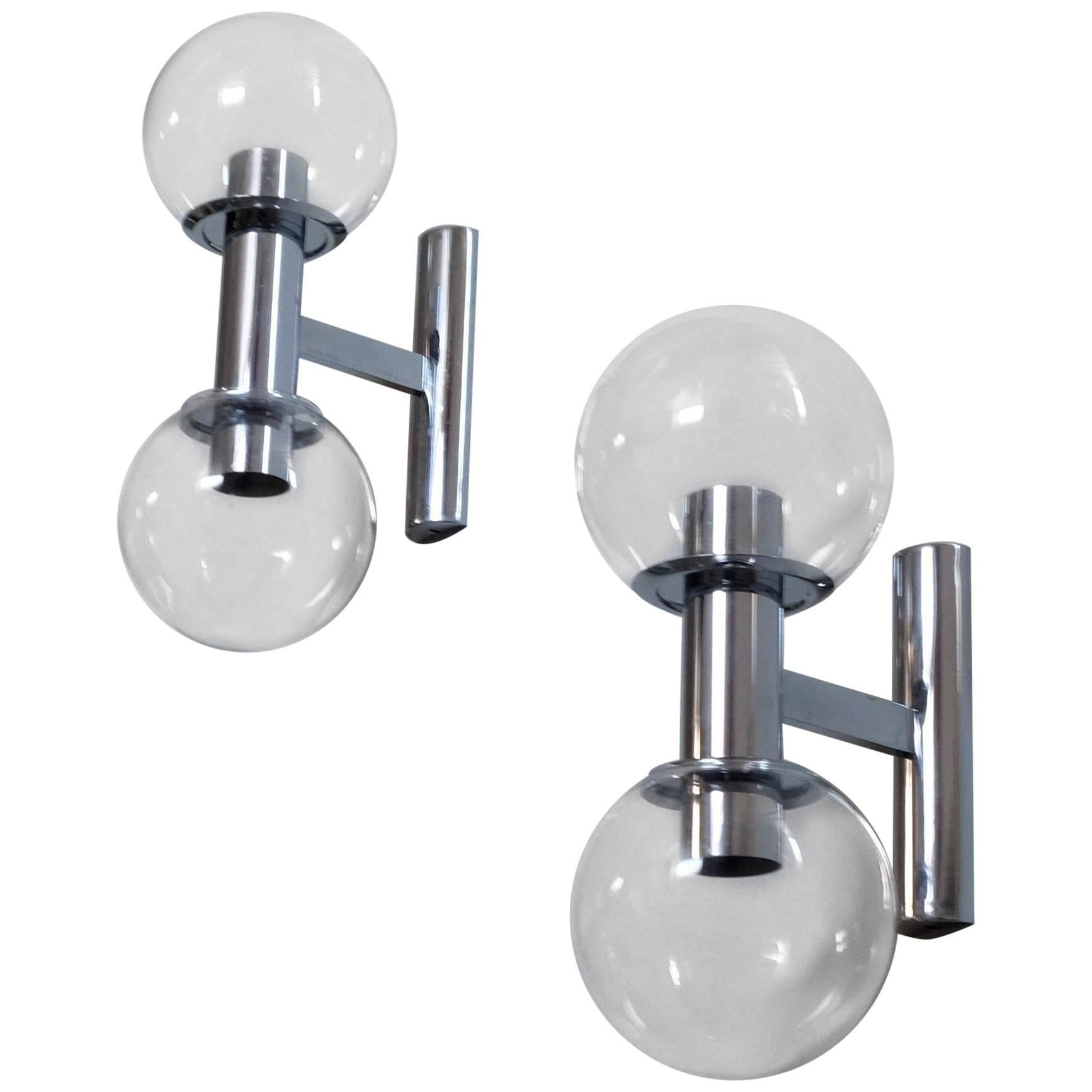Pair of Wall Lamps, 1960s