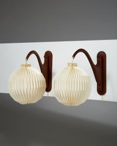 Pair of Wall Lamps, Anonymous, Denmark, 1950s