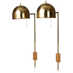 Pair of Wall Lamps, Anonymous for Bergboms, Sweden, 1970s