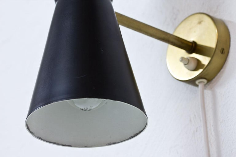 Pair of Wall Lamps by Alf Svensson for Bergboms, Sweden, 1950s 2